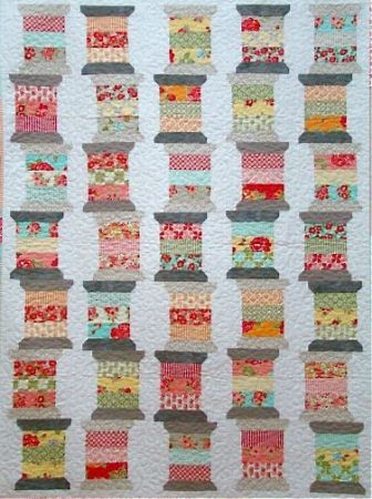Vintage Spools Quilt- I love how they are 'stacked' up!