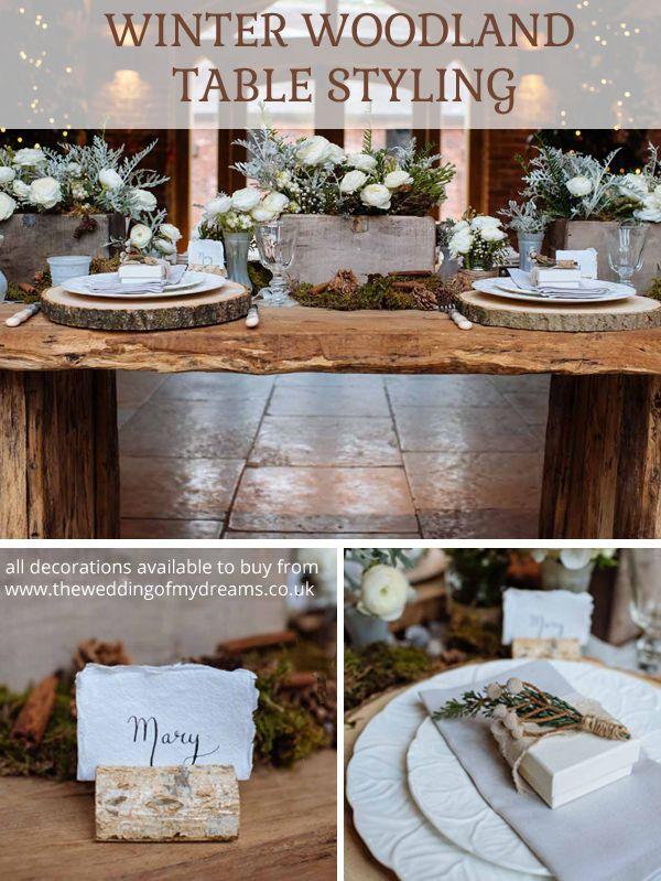 78 best winter woodland wedding images on pinterest winter rustic winter woodland wedding decorations junglespirit Images