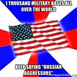 """Американский флаг - 1 тыс военных баз по всему миру продолжают говорить """"российских агрессоров"""""""