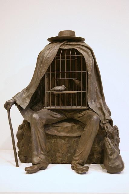 Magritte sculpture