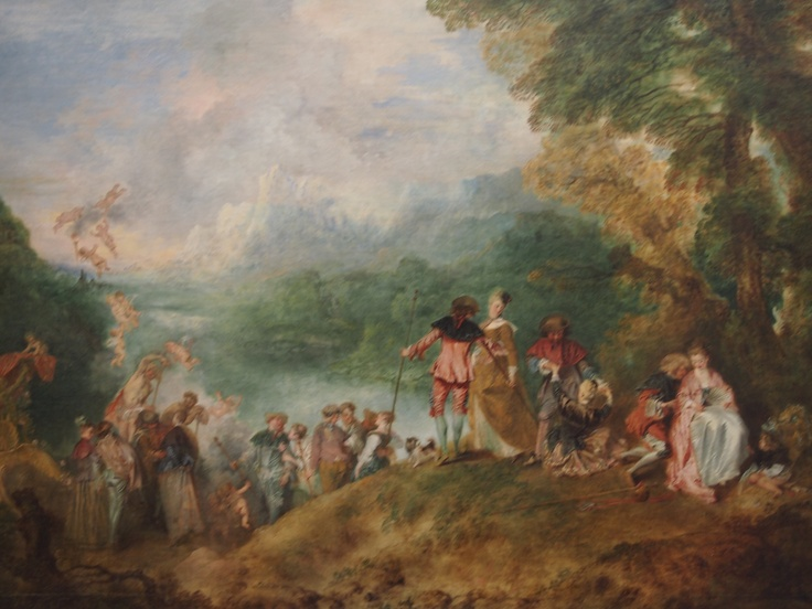 """What was the name Watteau intended for his picture, """"The Embarkation to Cythera... or form Cythera?"""" The issue keeps a few generations of Art historians at daggers drawn. This is what Andrea Narciat had to say about it, """"My friends, snow has covered our heads; at our age we need no more conquests... Let us leave Cythera with courage, and look for more lasting pleasures elsewhere... """""""