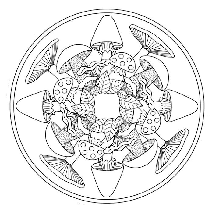 * Mandala: Paddenstoelen!
