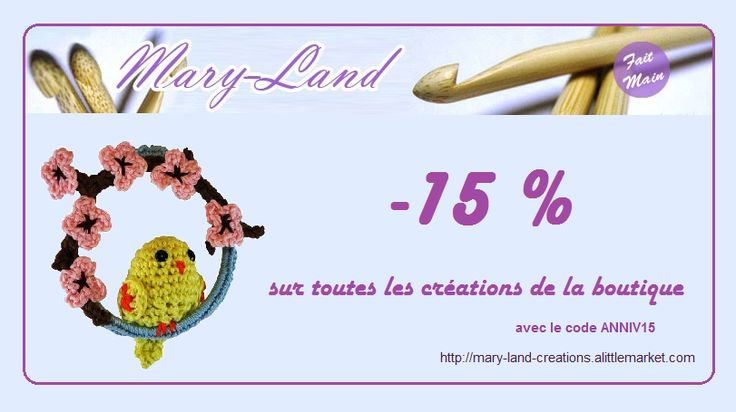 du 07 au 14 mars !! https://www.alittlemarket.com/boutique/mary_land_creations-1006781.html