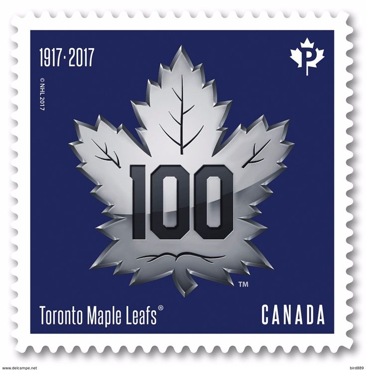 2017 Canada Hockey NHL Toronto Maple Leaf Centenary Single Stamp From Booklet Canada MNH - Booklets
