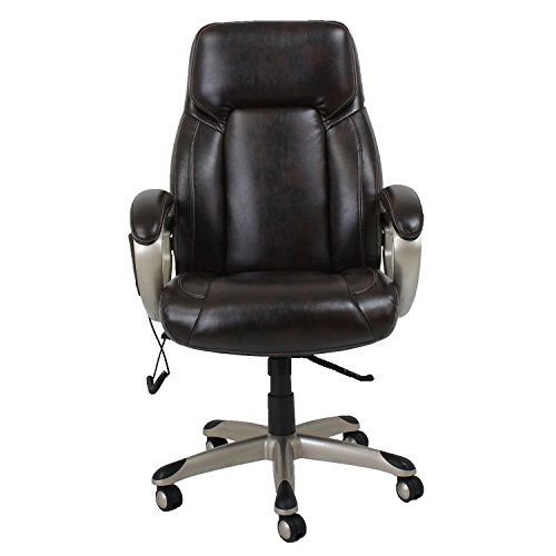 Barcalounger Shiatsu Massage Office Chair, Brown BarcaLou