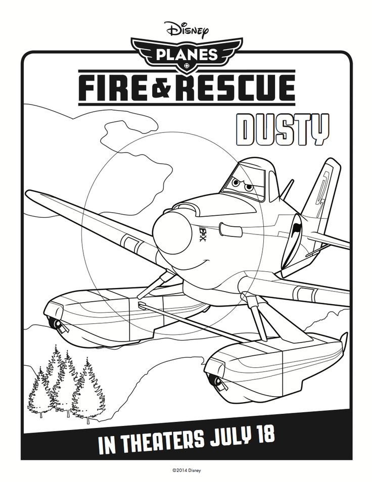 Disneys Planes Fire And Rescue Coloring Sheets Character Posters Trailer