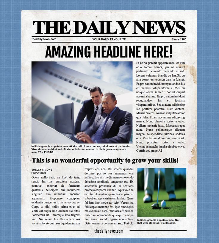 9 Best Microsoft Word Newspaper Templates Images On Pinterest Role