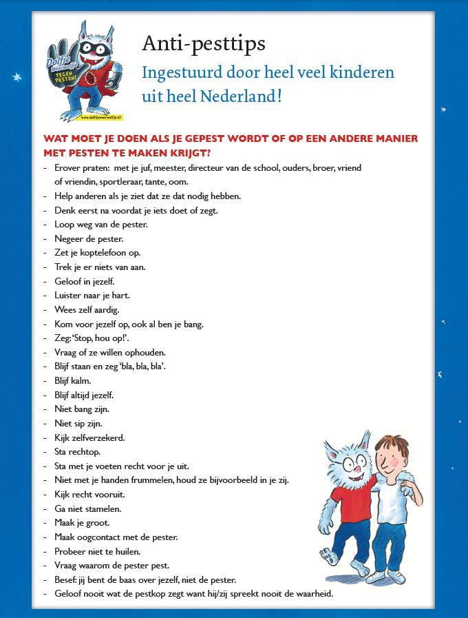 Tips tegen pesten | Stop Pesten NU