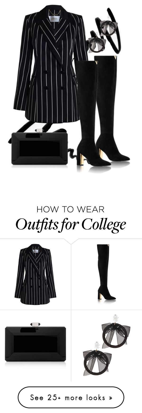"""""""Untitled #63"""" by evelinaleumas on Polyvore featuring Bobbi Brown Cosmetics, Zimmermann, Judith Leiber, Fallon and allblackoutfit"""