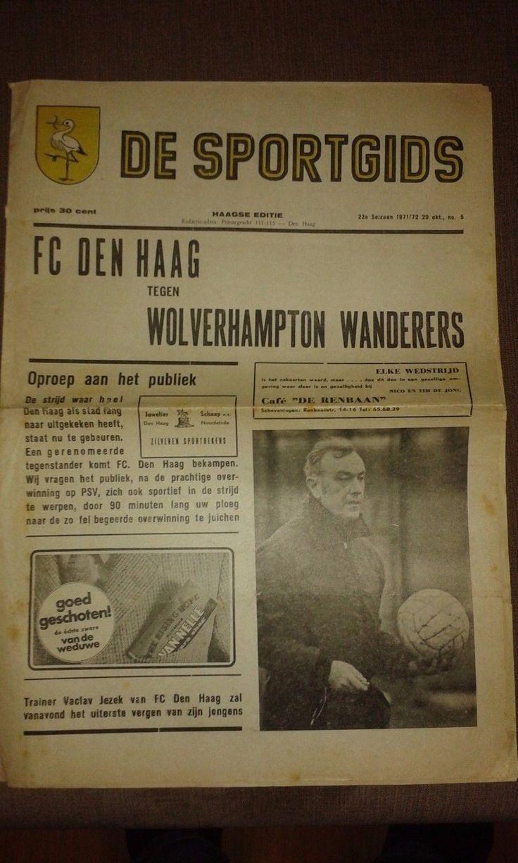 U.E.F.A. Cup 2nd round 1st leg fixture dated 20.10.1971.   eBay!