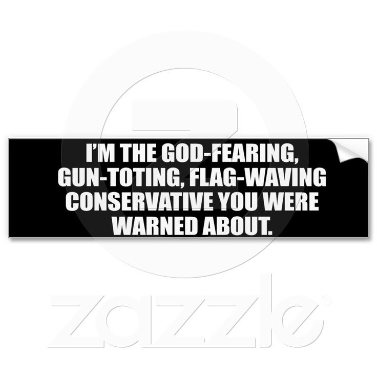 Anti obama god fearing conservative bumpersticke bumper sticker