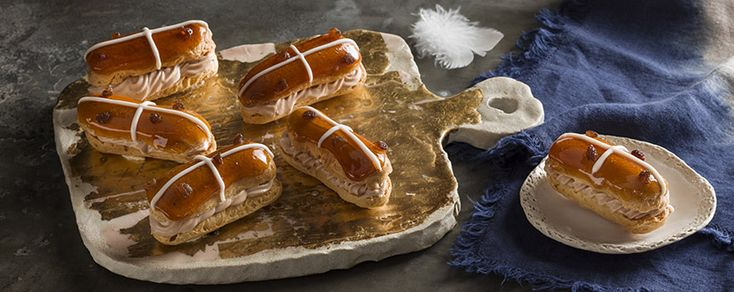 Rise to the challenge of these decadent mini Hot Cross Eclairs