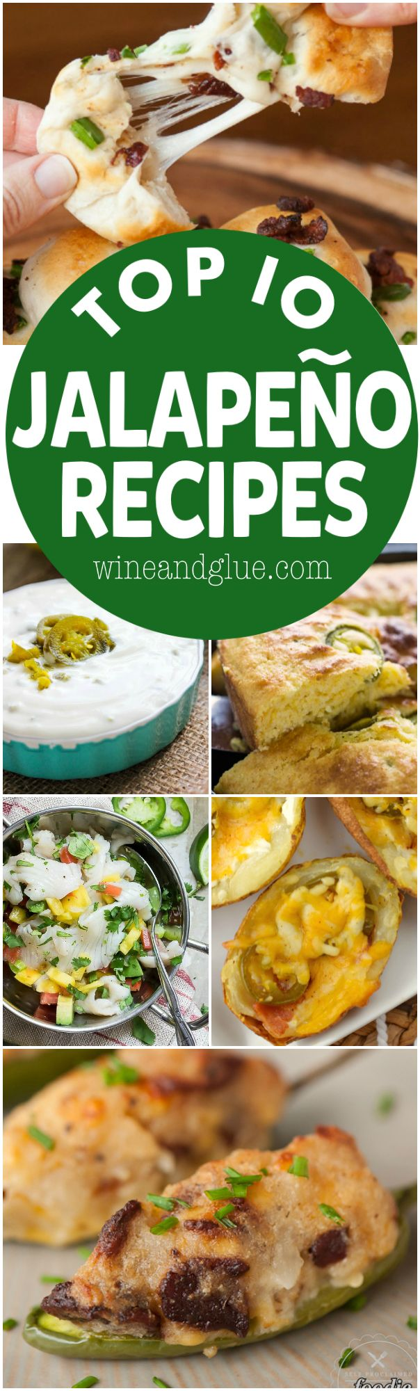 These Top 10 Jalapeño Recipes are must makes! Perfect appetizers and delicious dinners!