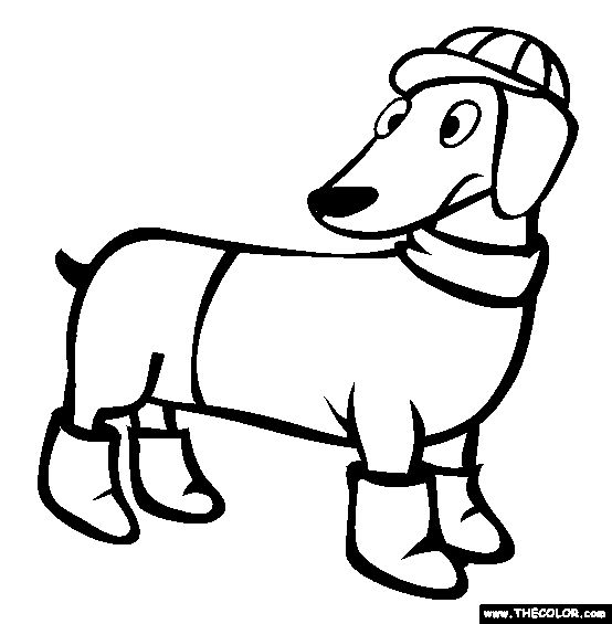 Printable dachshund coloring page. Free PDF download at http ... | 565x554
