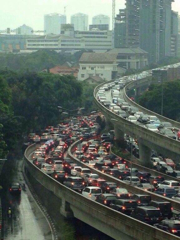 Traffic. Jakarta. Indonesia.