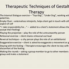 Gestalt Empty Chair Dialogues