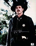 #4: Val Kilmer Signed Autographed 8X10 Photo Tombstone Doc Holliday w/Badge GA