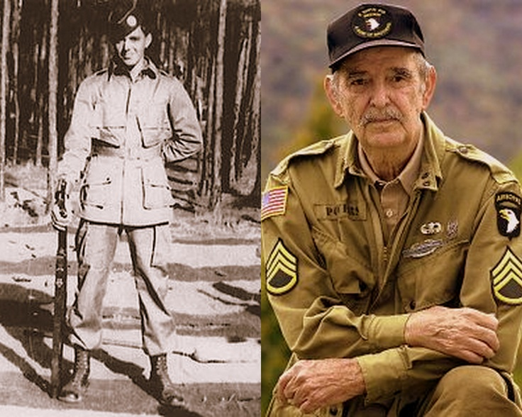 """Staff Sergeant Darrell C. """"Shifty"""" Powers. Easy Company, 2nd Battalion, 506th Parachute Infantry Regiment, in the 101st Airborne Division"""