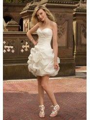 Organza Strapless Sweetheart Short Wedding Dress