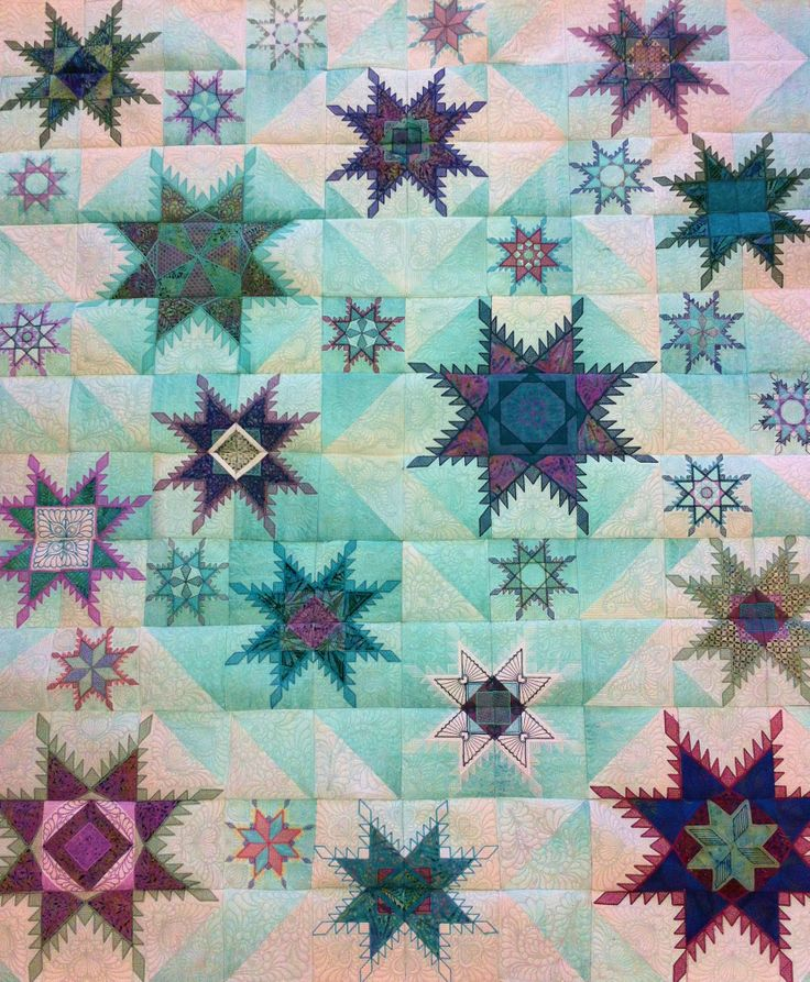 78 Best Images About Feathered Star Quilt On Pinterest