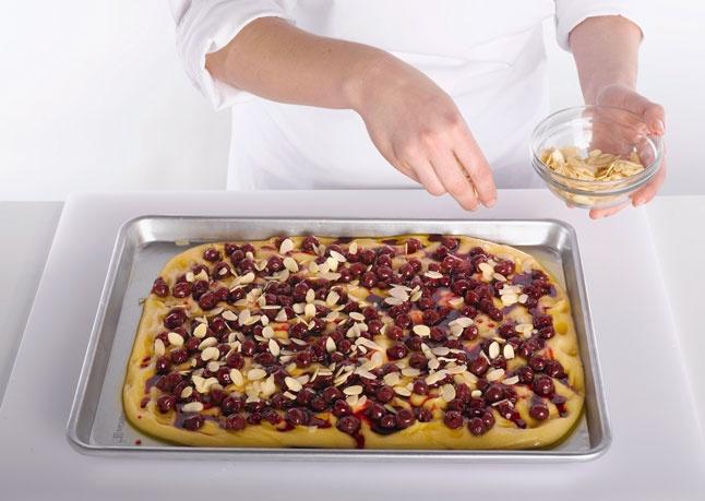 How to Make Cherry-Almond Focaccia: bonappetit.com