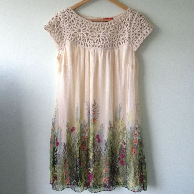 European Wardrobe crochet floral dress