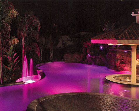 led pool lighting on pinterest fountain lights cove lighting and. Black Bedroom Furniture Sets. Home Design Ideas