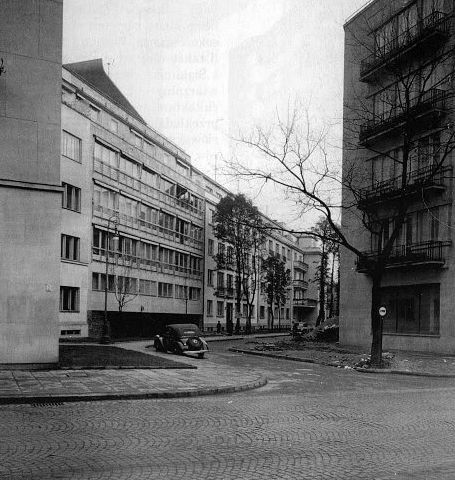Warszawa, Dom pod żaglem, al. Przyjaciół 3, proj. Juliusz Żórawski, 1937