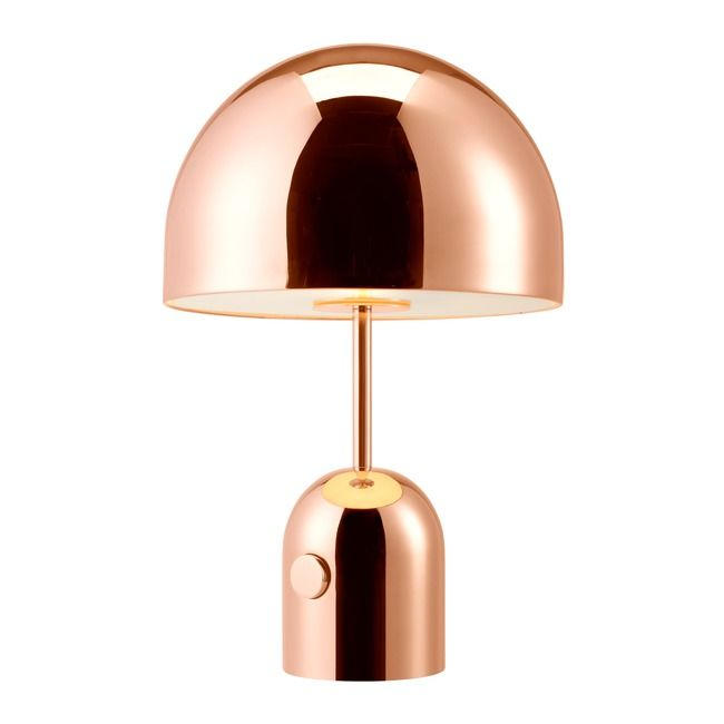 Bell Table Lamp By Tom Dixon Bet01cul Copper Table Lamp Chrome Table Lamp Vintage Table Lamp