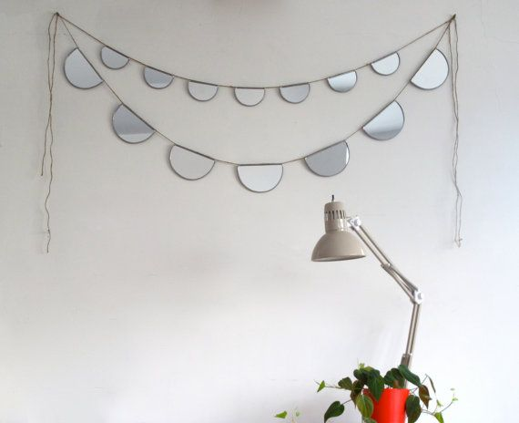 Mirror Bunting Small Half Circle Banner Garland by fluxglass, $50.00