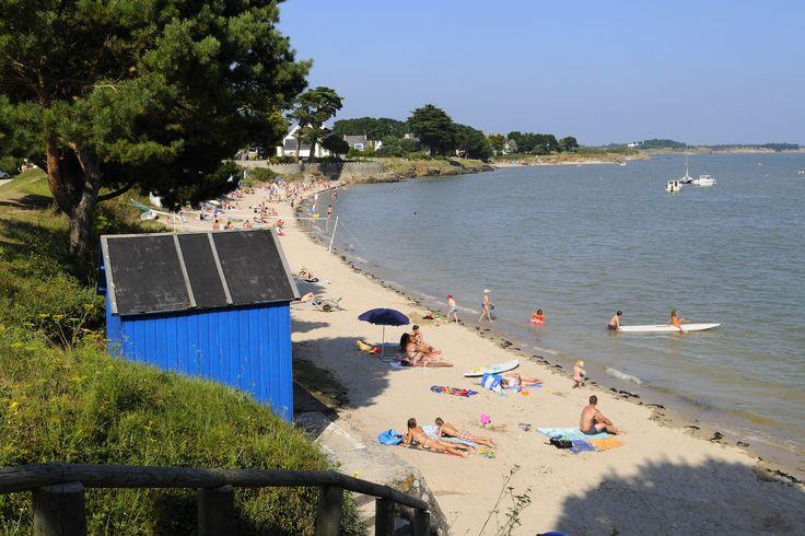 Petite plage de Kervoyal à Damgan dans le Morbihan