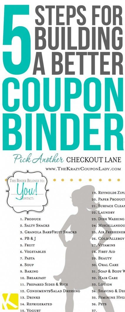5 Easy Steps to Create and Maintain Your Coupon Binder