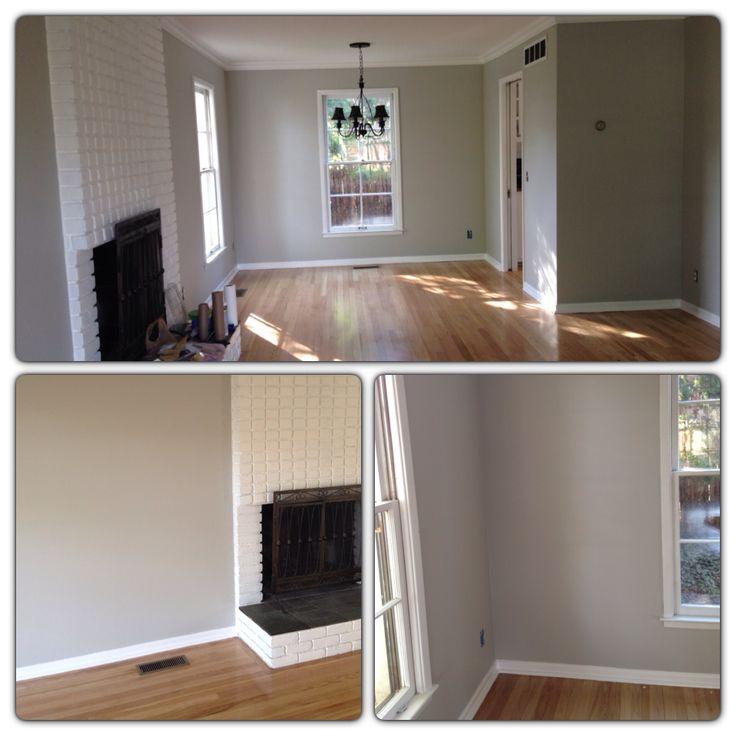 Wall Colors For Gray Floors : Light gray walls with oak hardwood floors wall
