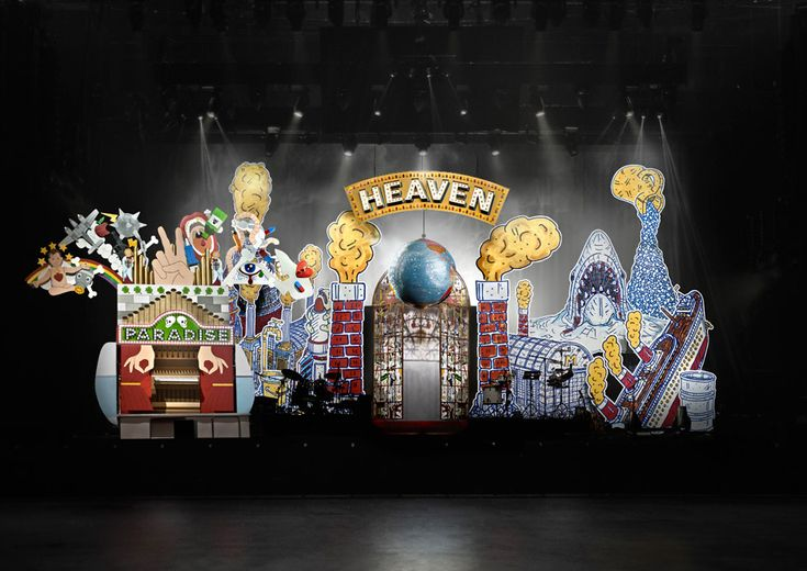 "Studio Job creates ""travelling circus"" stage set for Mika tour using giant illustrations"