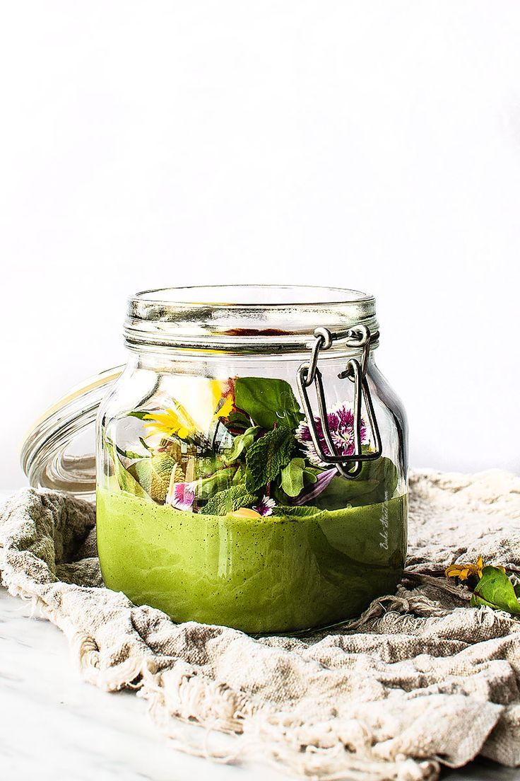 green gazpacho with nuts.