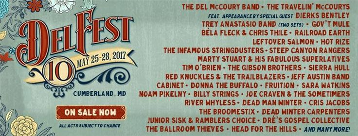 Hey, Dierks Bentley fans! The country cutie will be playing at the 10th anniversary installment of DelFest, Memorial Day weekend 2017! Tickets are on sale now! Allegany County Fairgrounds in Cumberland, MD