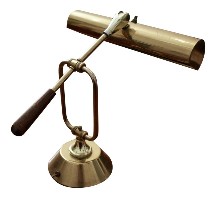 Adjustable Brass Bankers Lamp on Chairish.com