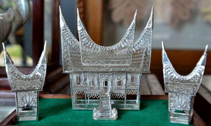 Rumah Gadang Miniature, An Original Souvenir from West Sumatera, Indonesia