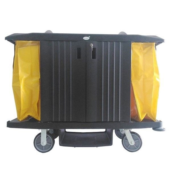 Guest Room Service Cart Black Plastik with Cover.  - Color:Black - product size:152.4X55.9X127cm - Harga per Unit.  http://alatcleaning123.com/troley-carts/1872-guest-room-service-cart-black-plastik-with-cover.html  #guestroomservicecart #trolley #alatkebersihan