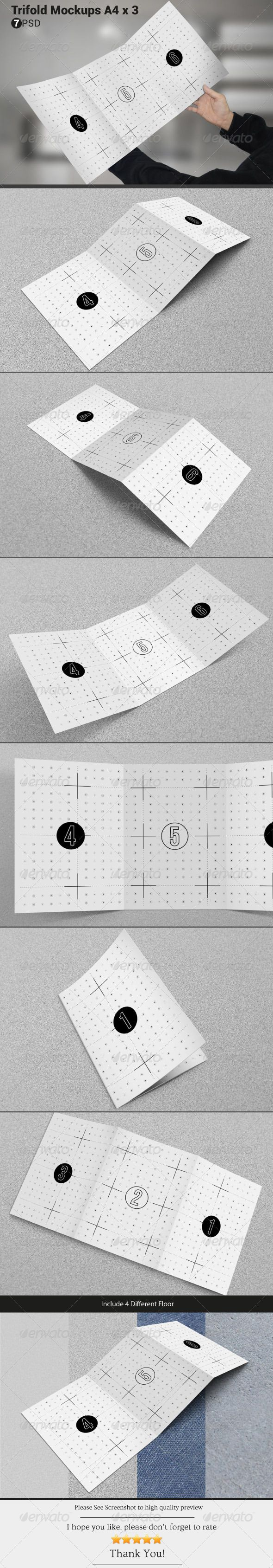 Trifold Mockups A4 | Download: http://graphicriver.net/item/trifold-mockups-a4-x-3/6712574?ref=ksioks