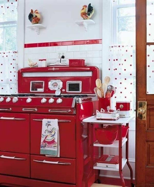 Retro Küche in Rot
