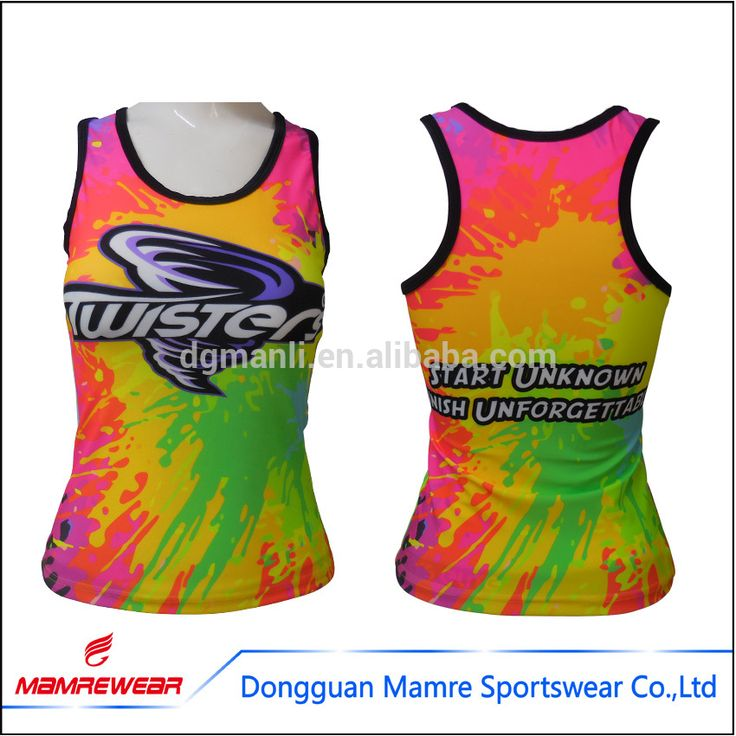 Manufacturer sublimation sports cheerleading tank top,fluorescent and neon colorful cheer tank top ,full length cheerleading top