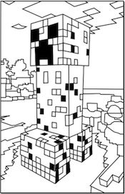 Free Minecraft printable coloring pages!