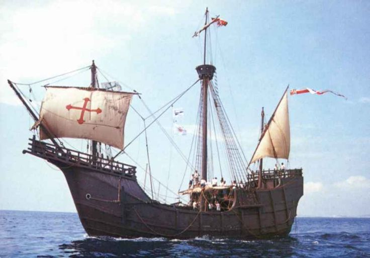 "SANTA MARIA -one of the 3 ships used by Christopher Columbus in his first voyage to the ""new world"". The other 2 ships are the Nina and the Pinta."