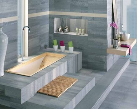256 best images about ba os modernos modern bathrooms on - Revestimiento paredes bano ...