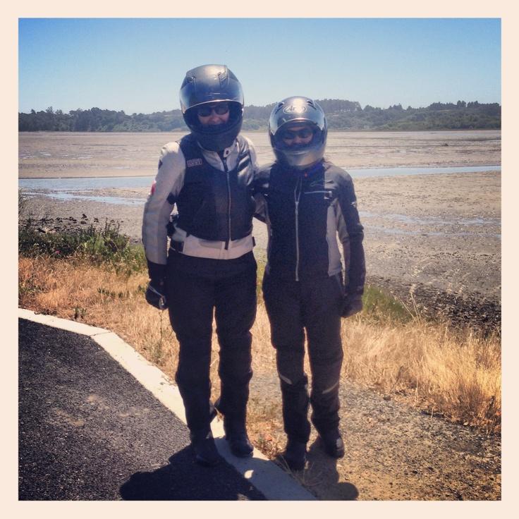My friends Jennifer (kawasaki ninja 250) and Monique (triumph speed four)