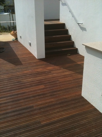 Let the #outdoor #fun begin with eco-friendly palmwood #flooring perfect for outdoor patios, indoor saunas and bathrooms. #Flooring from Palmwood, GEFF, #Goodrich