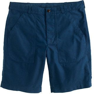 $29, J.Crew Military Utility Short In Gart Dyed Oxford. Sold by J.Crew. Click for more info: https://lookastic.com/men/shop_items/305010/redirect