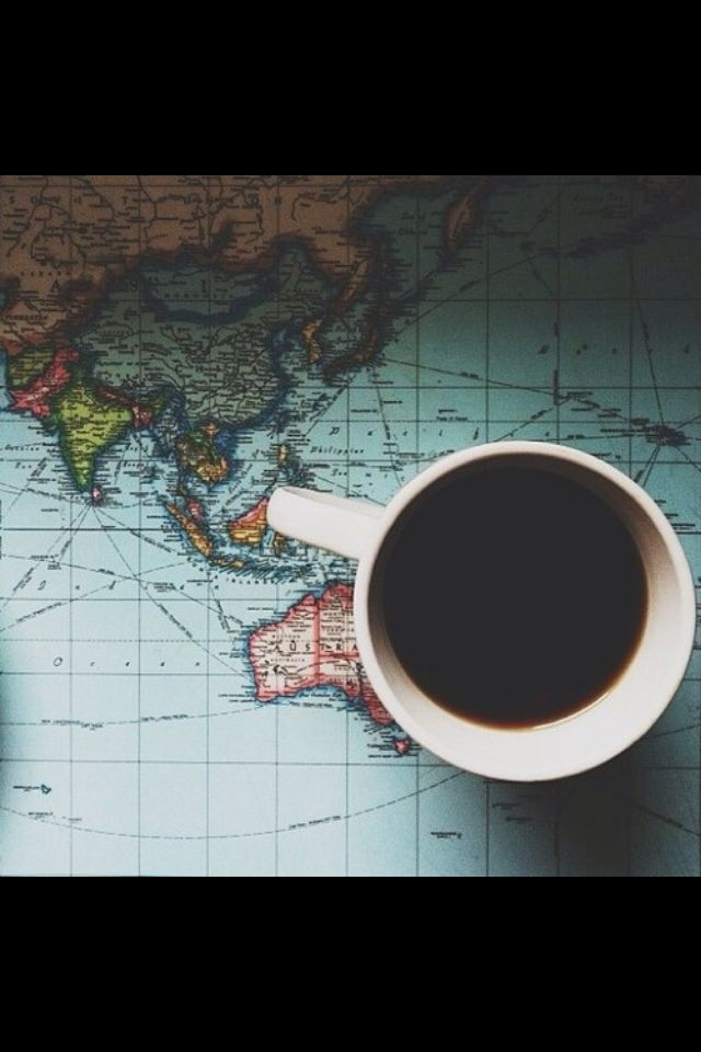 ** spend our saturday mornings drinking coffee & dreaming over maps of countries we want to travel to...