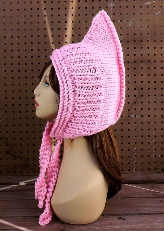 Pink Knitted Hat Womens Hat Trendy Knit Pink Hat African Hat Warrior Hat Warriors Hat Knit Hood WARRIOR PRINCESS by strawberrycouture by #strawberrycouture on #Etsy